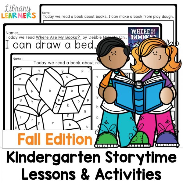 fall kindergarten library lessons